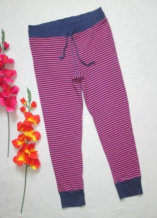 Стрейчевые домашные пижамные брюки в рубчик принт полоска высокая посадка  love to lounge