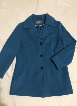 Пальто актуальное яркого бирюзового цвета bhs