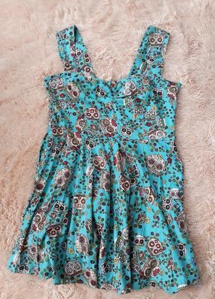 Короткое платье / яркое платье