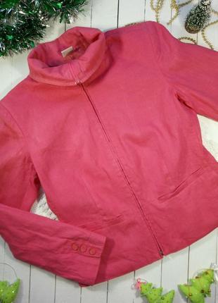 Льняная куртка-жакет
