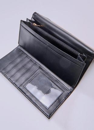 Черный женский кошелек