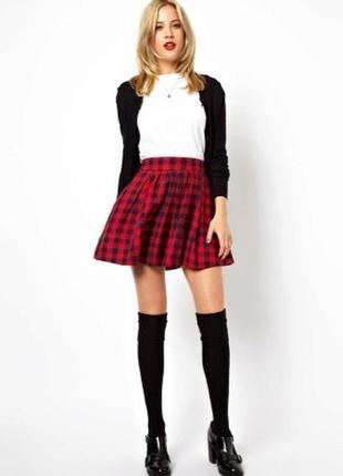 Стильная модная фирменная юбка в клетку