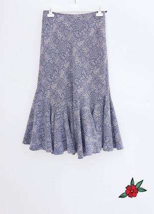 Стильная юбка миди теплая юбка с красивой ткани