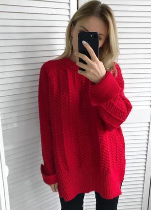 Крутий червоний светрик, 10% шерсть