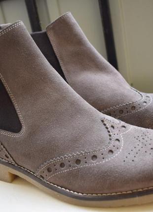 Замшевые ботинки челси броги smp италия р.40 26,2 см