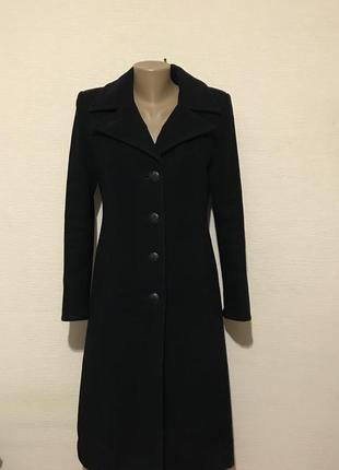 Классическое демисезонное пальто с натуральной шерстью и кашемиром