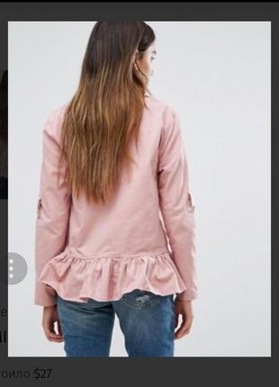 Крутая куртка  с рюшами от missguided