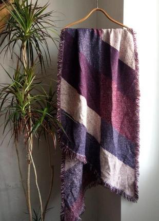 Стильный теплый шарф,большой обьемный шарф,палантин,большой мягкий платок плед