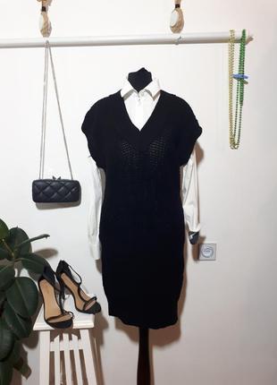 Шерстяное вязаное платье - сарафан hugo boss