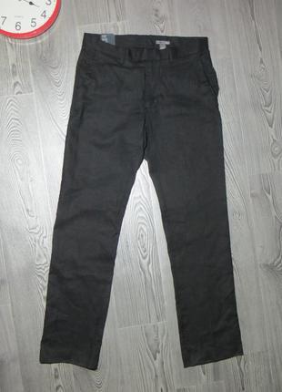 Новые повседневные брюки  из льна от h&m