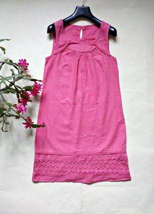 Легкое платье прямого кроя ( хлопок -лен )