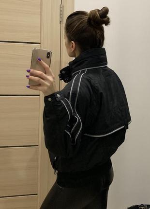 Куртка лыжная короткая черная