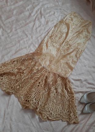 Нереально красивая кружевная юбка-русалка  в пол