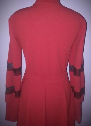 Миди платье красного цвета! размерs-m!3 фото