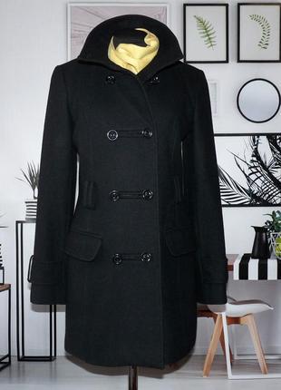 Пальто двубортное шерстяное