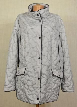 Стильная курточка в стиле кэжуал,легкая куртка стеганная, ветровка,большой размер