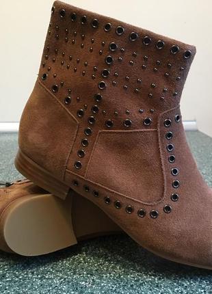 Кожаные ботинки 39р