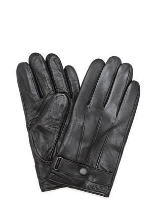 Мужские кожаные перчатки черного цвета размер 12