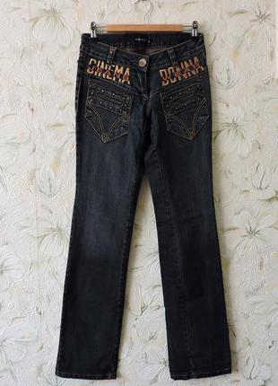 Женские классические прямые джинсы, джинсы с вышивкой, штаны