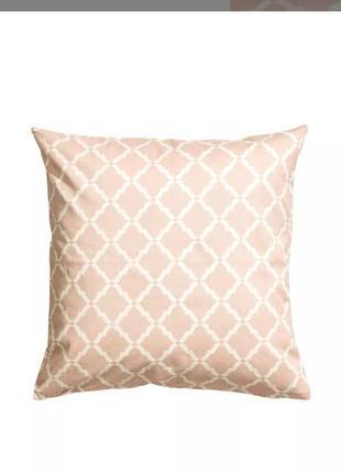 Чохол на подушку h&m home пудрового кольору наволочка