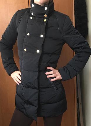 Пуховик пуховая куртка пальто женский курточка etam удлиненная парка