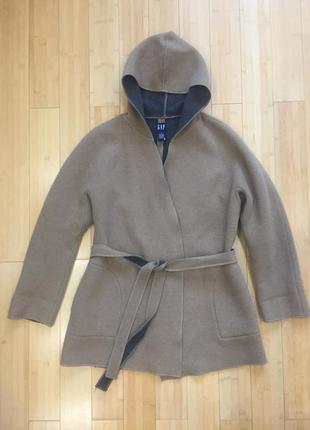 Демисезонное шерстяное пальто gap