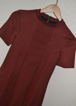 Платье в клетку\бордо классика topshop