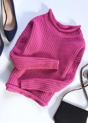 Вязаная кофта свитер с длинным рукавом