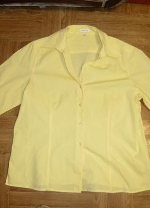 Классная блузка-рубашка коттоновая,рукав 3/4,отличное состояние,весна-лето-осень