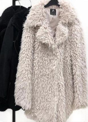 Белая шуба шубка пальто кардига кофта пушистый