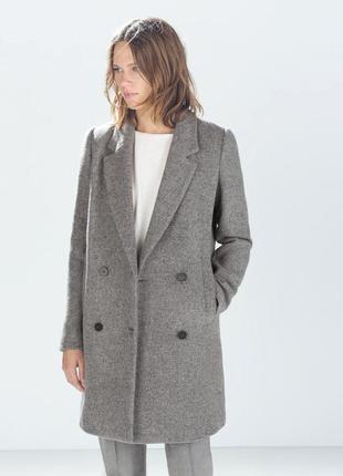 Пальто zara в составе шерсть