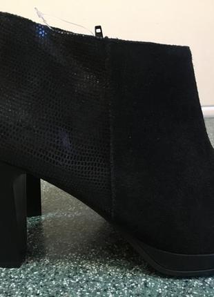 Изысканный кожаные ботинки 40 р- новые
