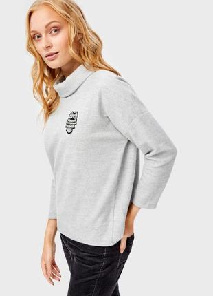Очень красивый мягкий теплый серый джемпер свитер ostin
