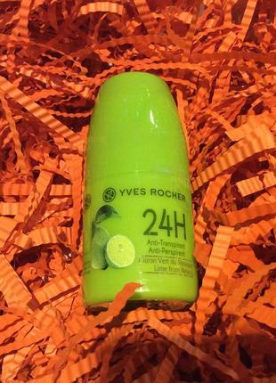 Дезодорант-антиперспирант 24ч зеленый лимон мексики