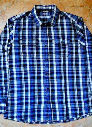 Рубашка george, оригинал l, хлопок 100%
