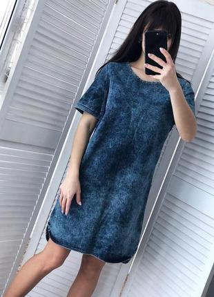 Стильное джинсовое платье размер m-l