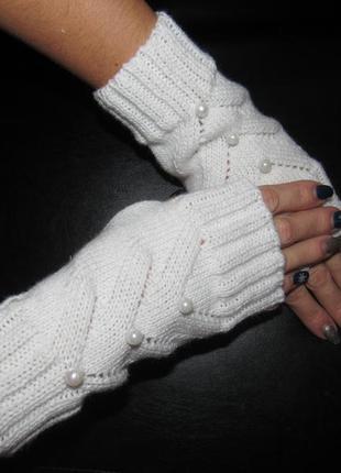 Митенки перчатки без пальцев