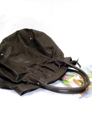 Большая темно серая сумка 38см на 47см фирменная