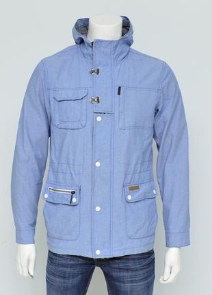 Красивая молодежная курточка парка от revelation голубого цвета