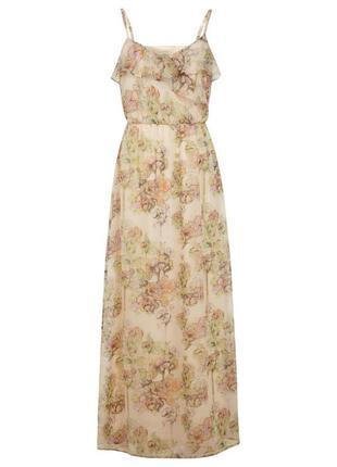 Женственное и романтичное платье макси с принтом от miss selfridge