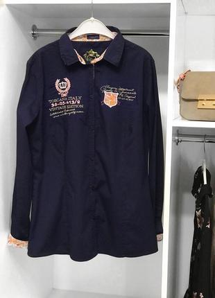 Приталенная рубашка с нашивками/рубашка на работу/офисная рубашка от darling
