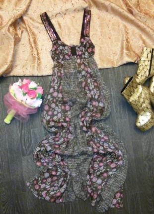 Итальянское шифоновое платье/c/m
