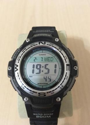 Часы casio sgw-100 компас, термометр, оригинал