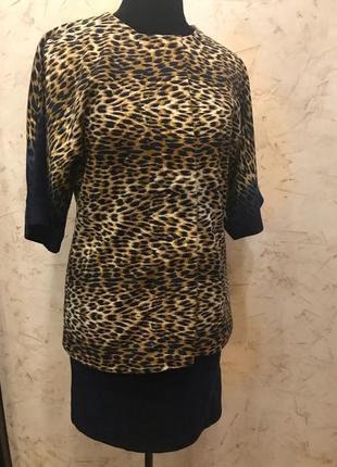 Костюм, двойка, юбка пиджак, гранд уа, леопард, принт леопардовый
