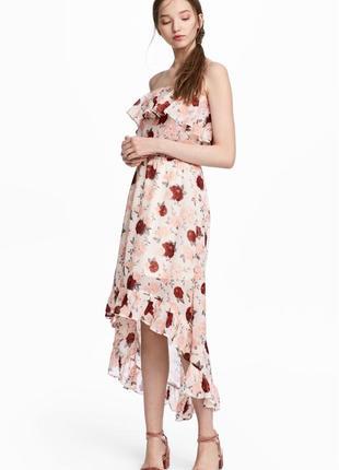 Платье h&m с открытыми плечами