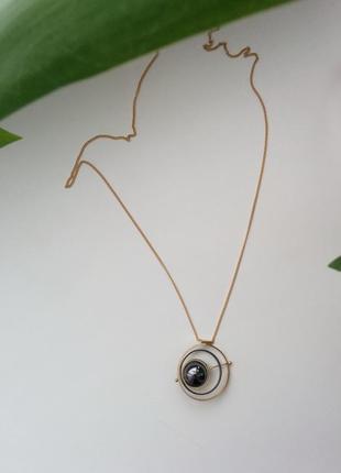 Колье ожерелье цепочка кулон подвеска сфера маятник геометрия