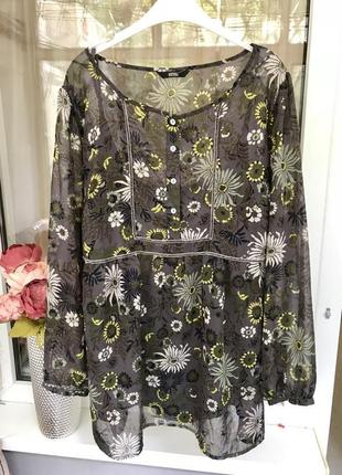 Шифоновая блузка/блуза большого размера от marks & spencer