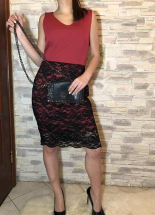 Платье  с кружевом body flirt