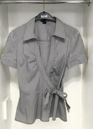 Ликвидация лета!базовая полосатая рубашка с коротким рукавом h&m