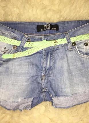 Крутые короткие джинсовые шорты/бренд just cavalli